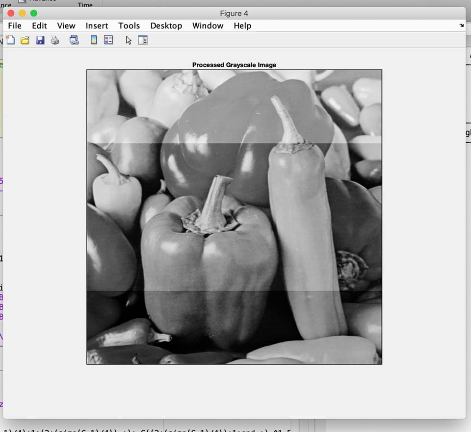 nce Time Figure 4 File Edit View nset Tools Desktop Windo Help 실 Processed Grayscale Image