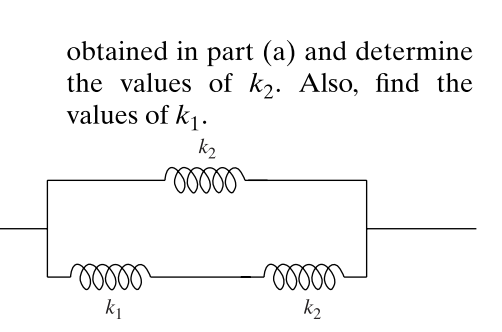 obtained in part (a) and determine the values of k2. Also, find the values of ki. k2 гооо