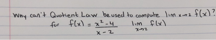 Wny cant Quohent Law be used to compute m (x)? im X22