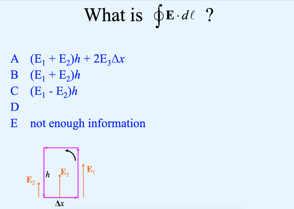 What is фЕ.dl ? B (E,+ E,)h E not enough information E2 Ax